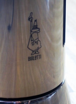 Bialetti man on a moka pot