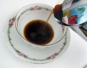 Pour of espresso