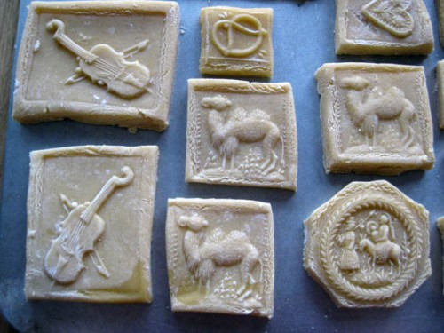 Assorted springerle cookies