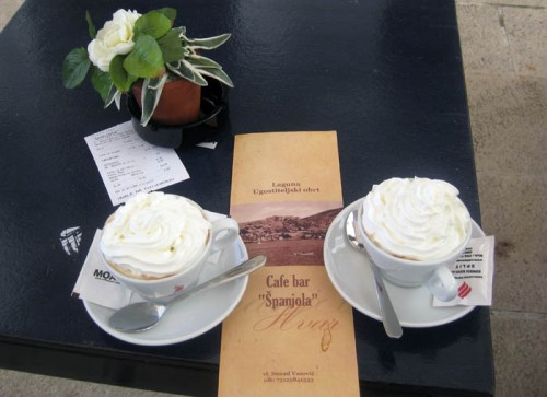 Two coffees at Cafe Spanjola