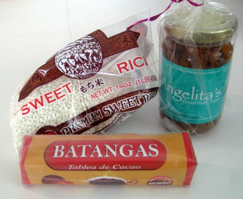 Ingredients for Champorado