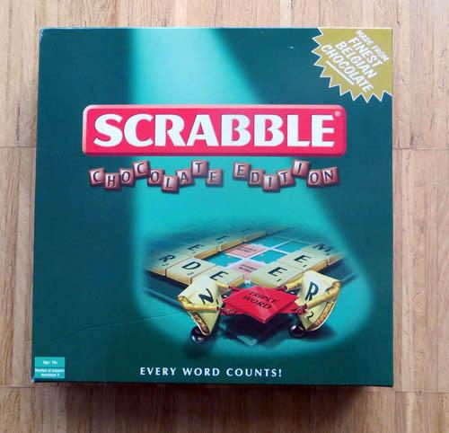 Chocolate Scrabble box