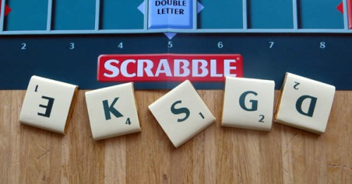 Five sample letters of Chocolate Scrabble
