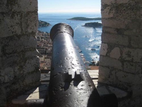 Cannon overlooking the Adriatic Sea