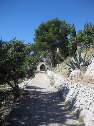 Walk up to Spanjola fort, Hvar Island Croatia
