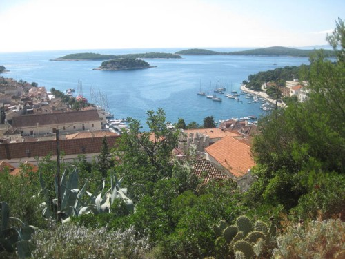 View from Hvar Island, Croatia