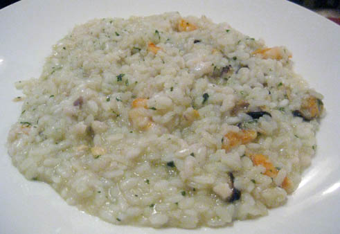 Seafood risotto in Venice