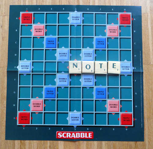 Take note of Chocolate Scrabble!