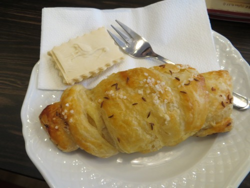 Croissant and springerle cookie