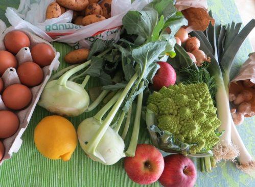 Market produce in Germany in April