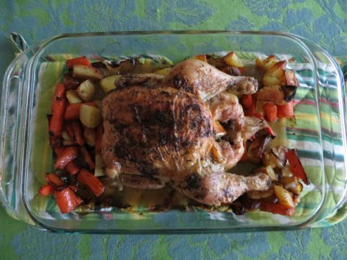 Roasted chicken, done