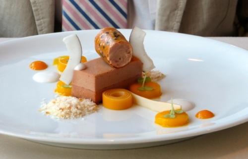 Mango, coconut, foie gras at Olivo