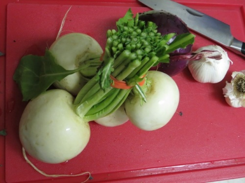 Bundle of turnips